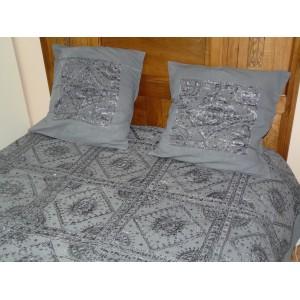Couvre-lit en coton Nuit étoilée brodé à la main avec des miroirs