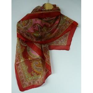 Foulard en soie grand carré imprimé Haldi