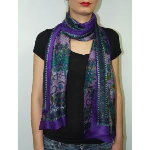 Foulard en soie imprimé Anoushka