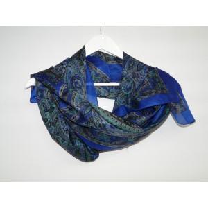 Foulard en soie imprimé Mermaid