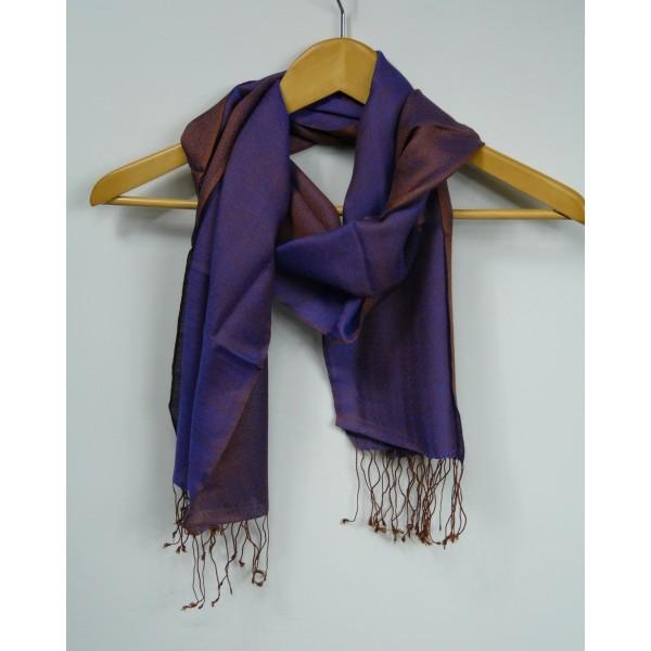 Echarpe tissée réversible en laine et soie Diamond - www ... 8187ae73254
